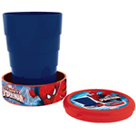 BICCHIERE SPIDERMAN IN PLASTICA RICHIUDIBILE ML. 210 - H = cm. 8,5 Diam. cm.6,7