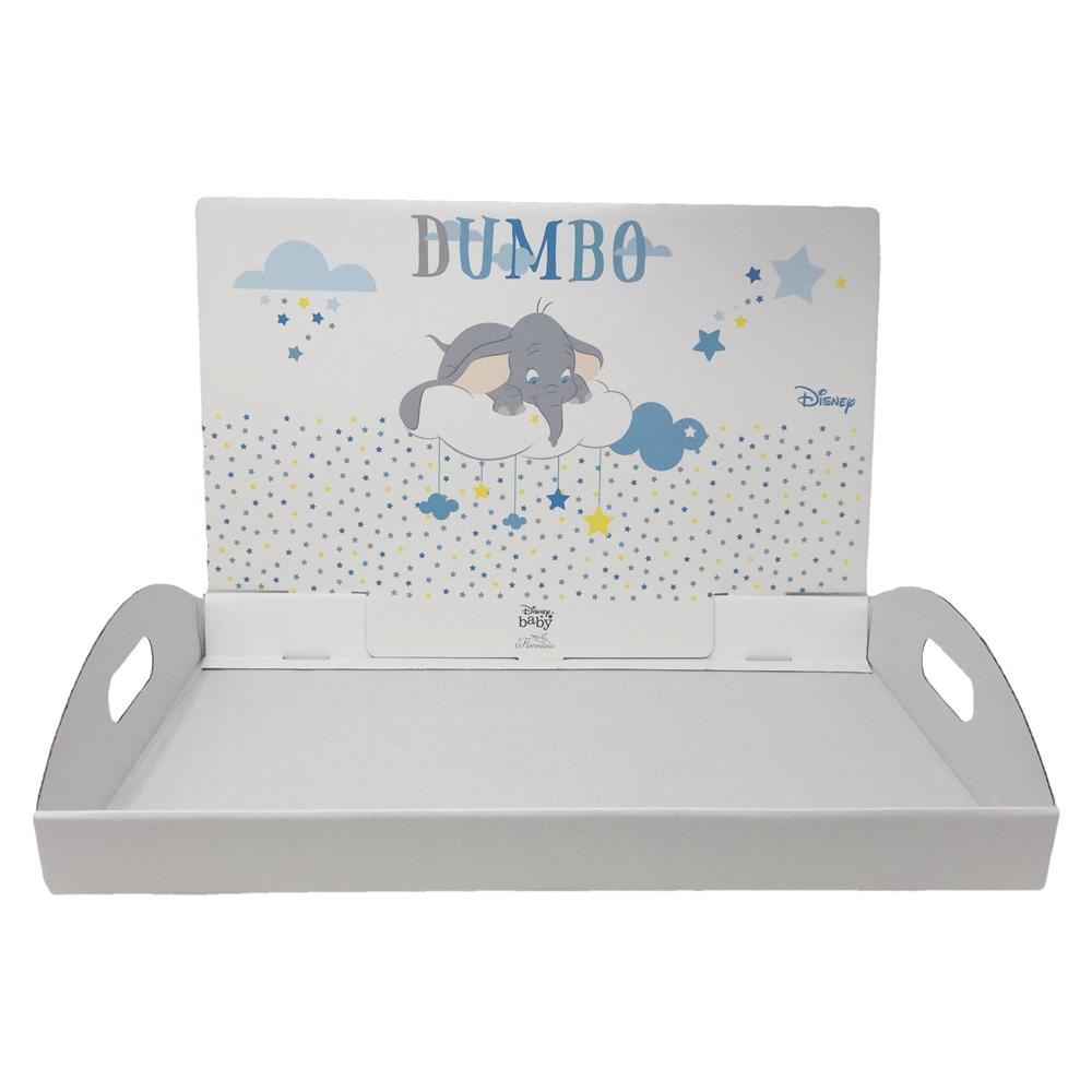 Vassoio Porta bomboniere Bianco e Inserto Dumbo Disney Celeste  Art 68144
