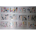 Cartolina con stickers Disney Top Model 11,5x15cm